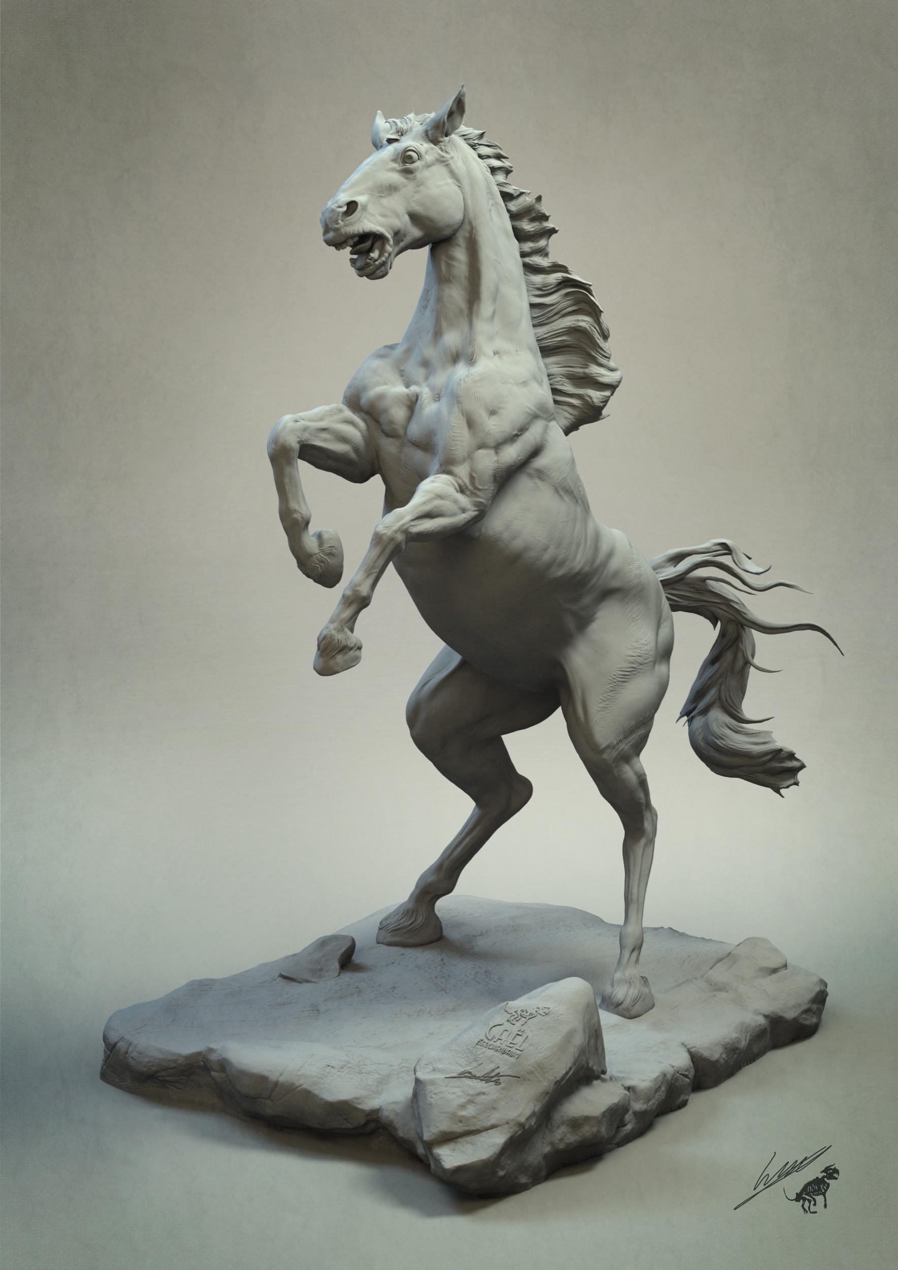 Gael kerchenbaum horse 009 clay