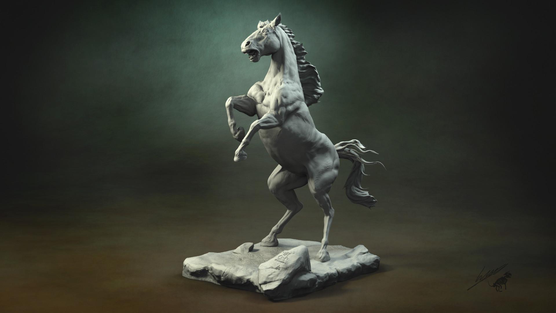 Gael kerchenbaum horse 011 clay