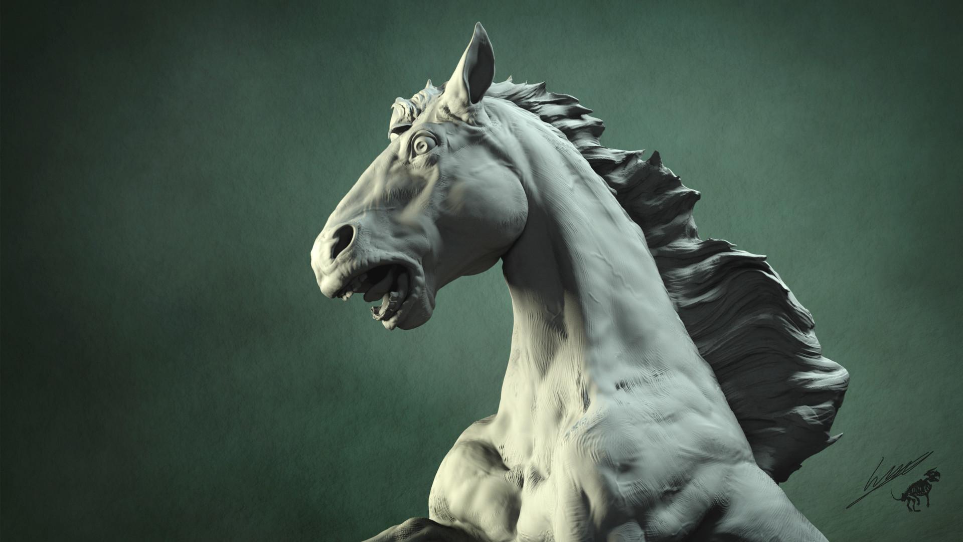Gael kerchenbaum horse 012 clay
