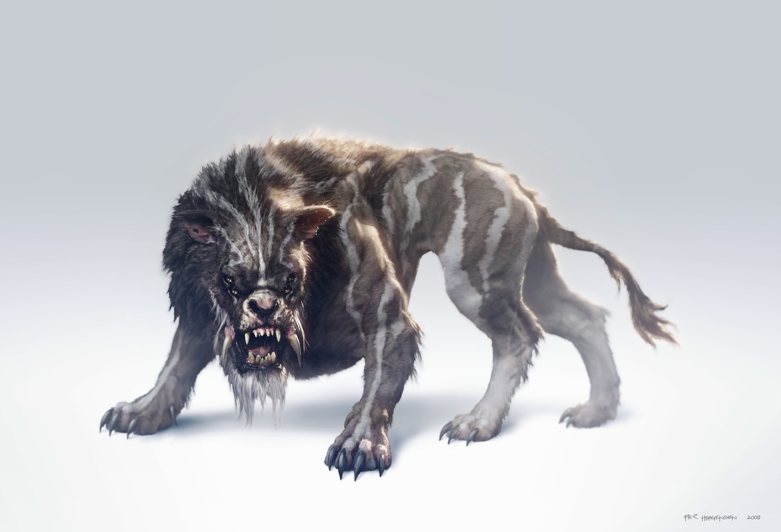 "Khitan Lion - Creature concept art for ""Age of Conan: Rise of the Godslayer"""