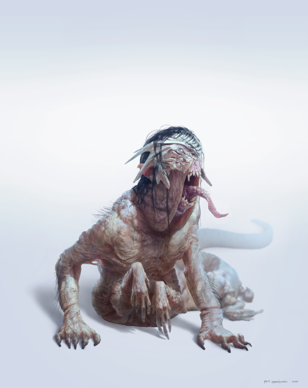 "The Corrupted - Boss Monster - Creature concept art for ""Age of Conan: Rise of the Godslayer"""