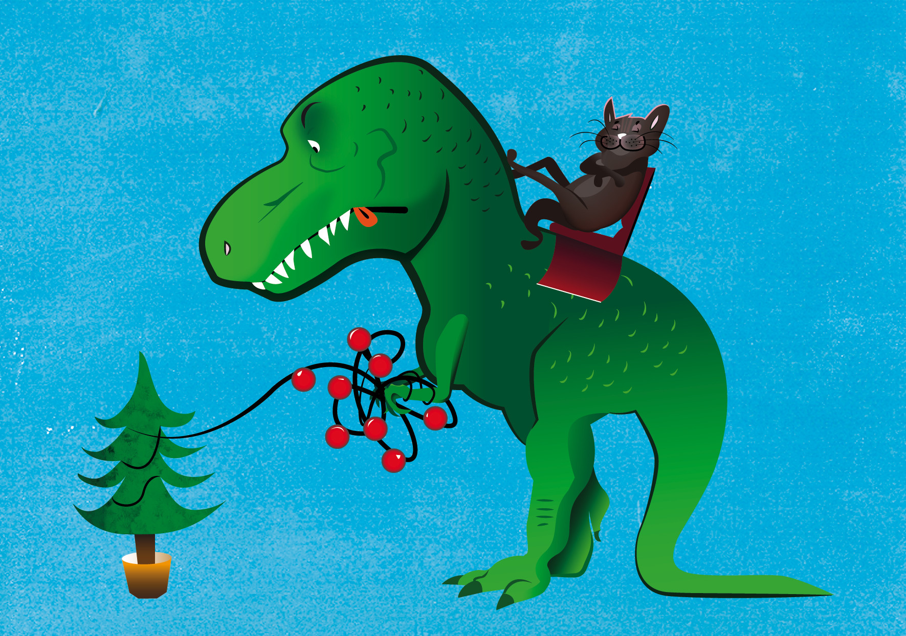 Andy bruyninckx christmas t rex