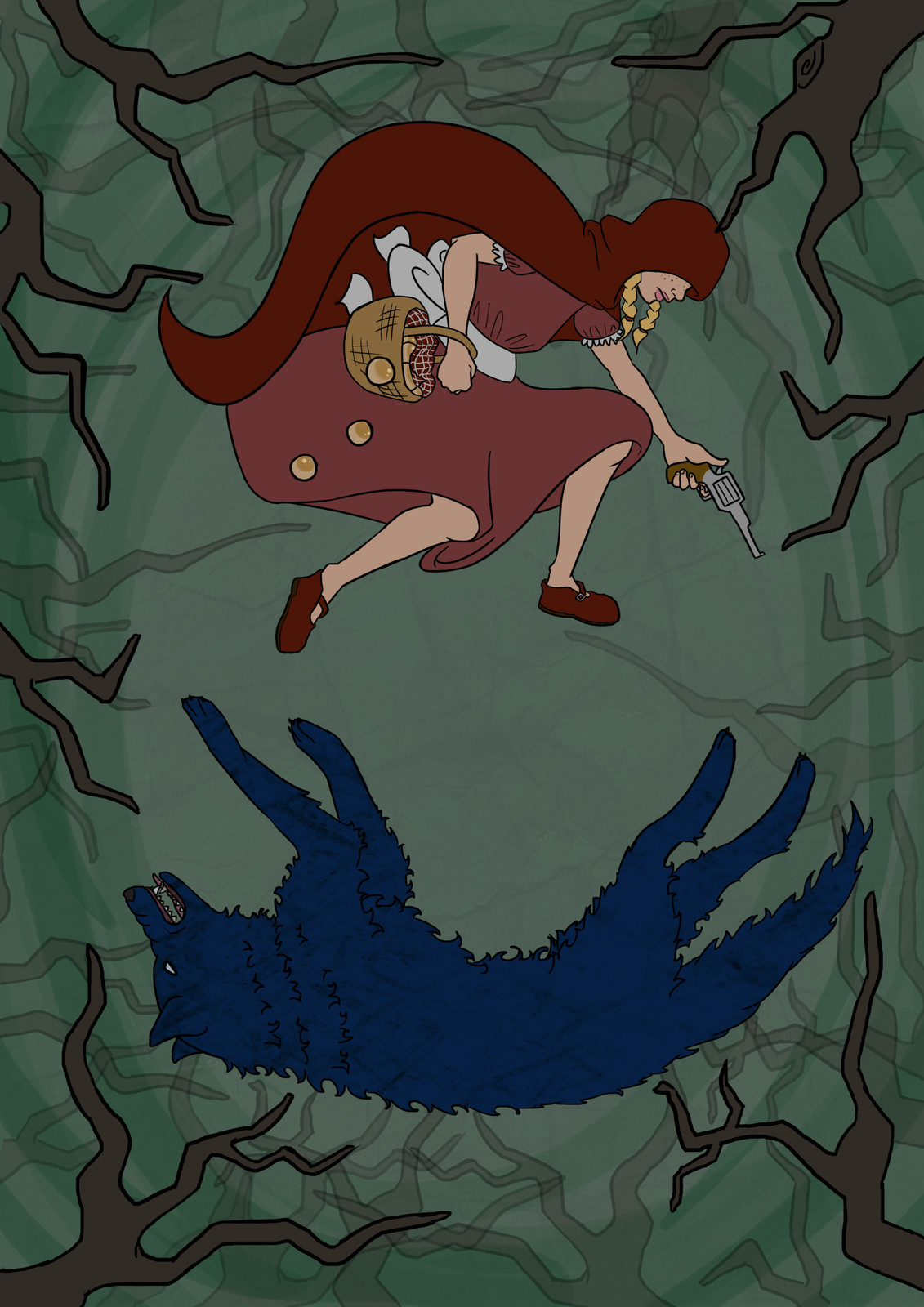 Artstation Little Red Riding Hood And The Wolf Emily Ring