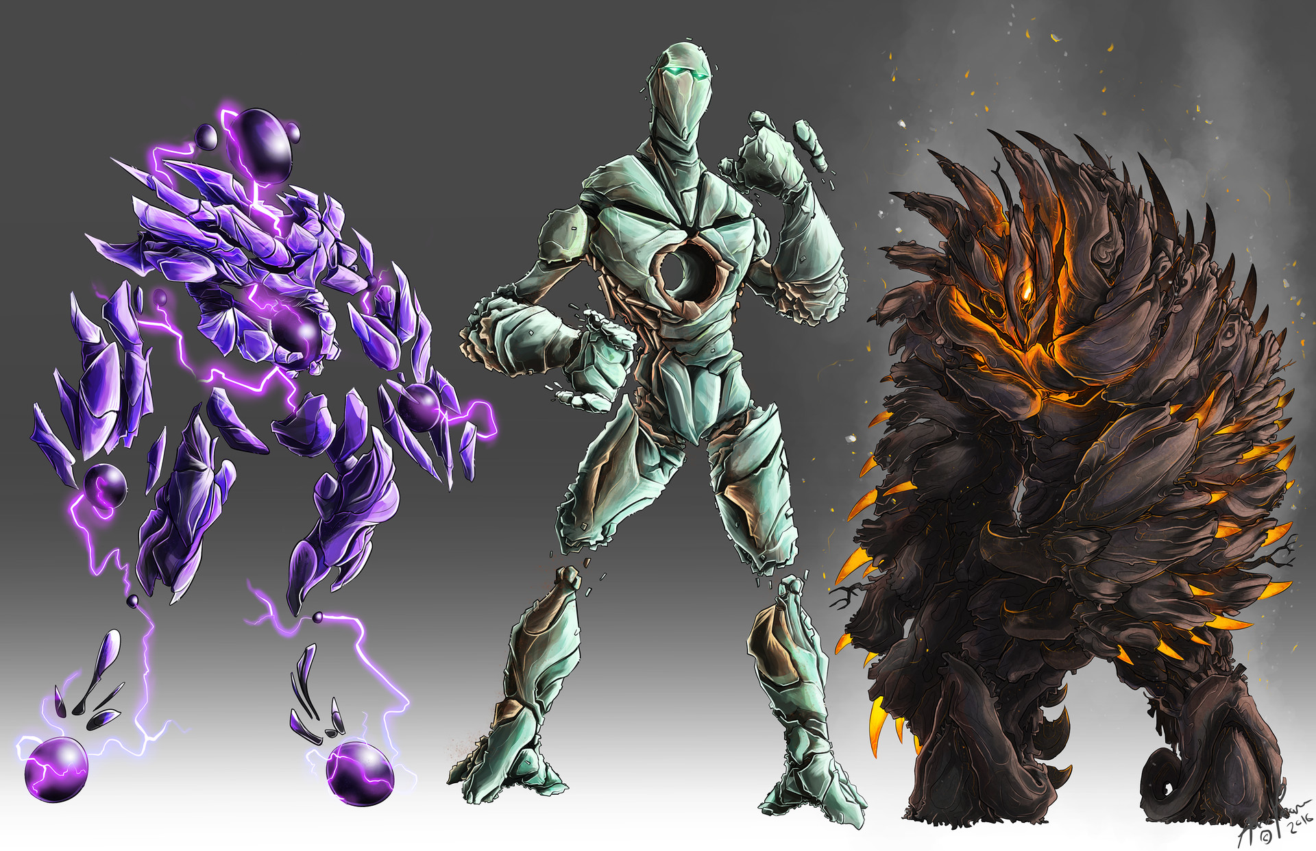Aaron pearce concept art for characters and creatures for Concept metal