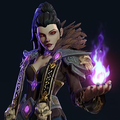 Satoshi arakawa female darkelf light turnaround