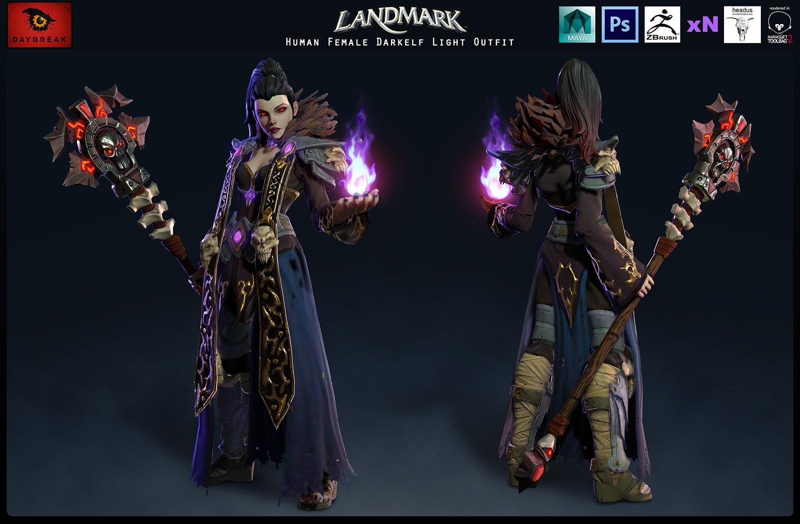 Human Female Darkelf Light Outfit