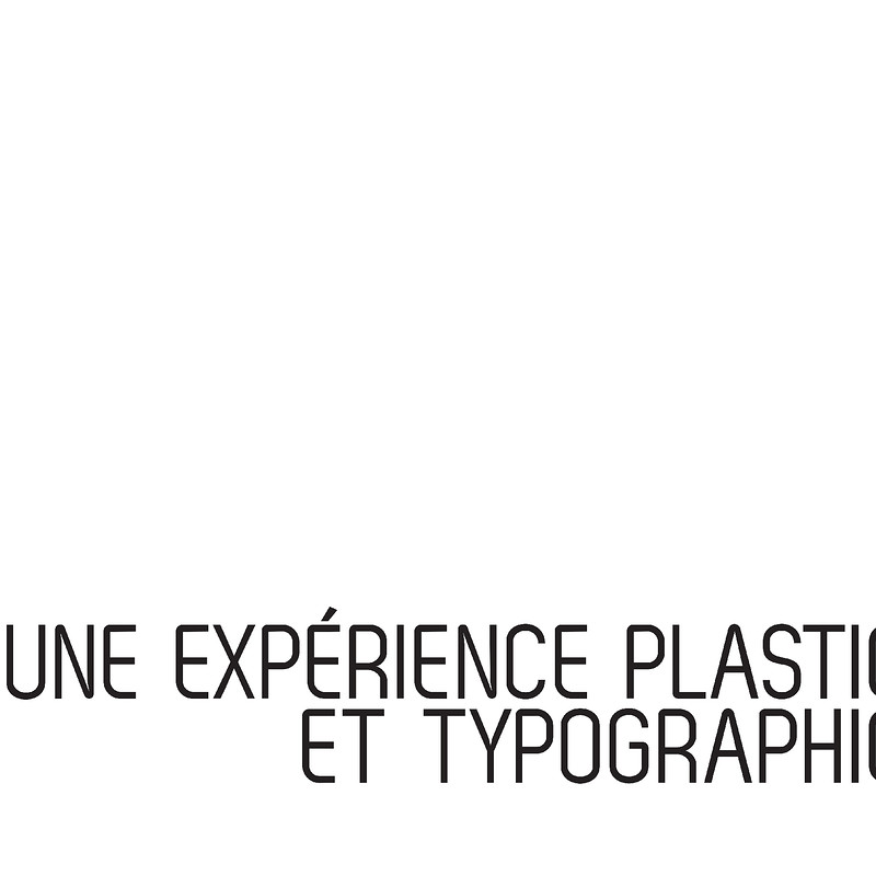 A typographical experience