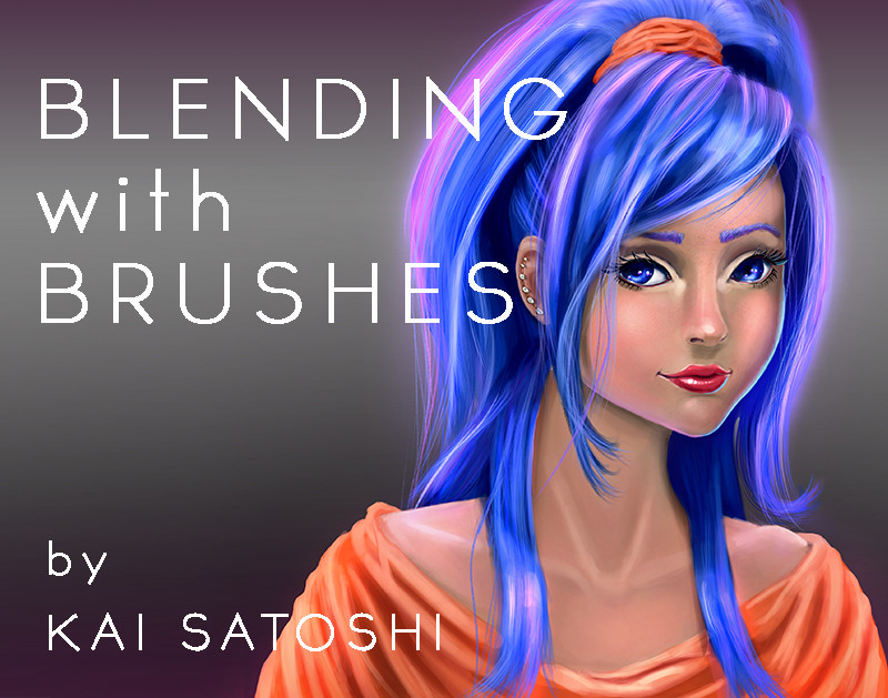 Kai satoshi blending with brushes girl cover art sig
