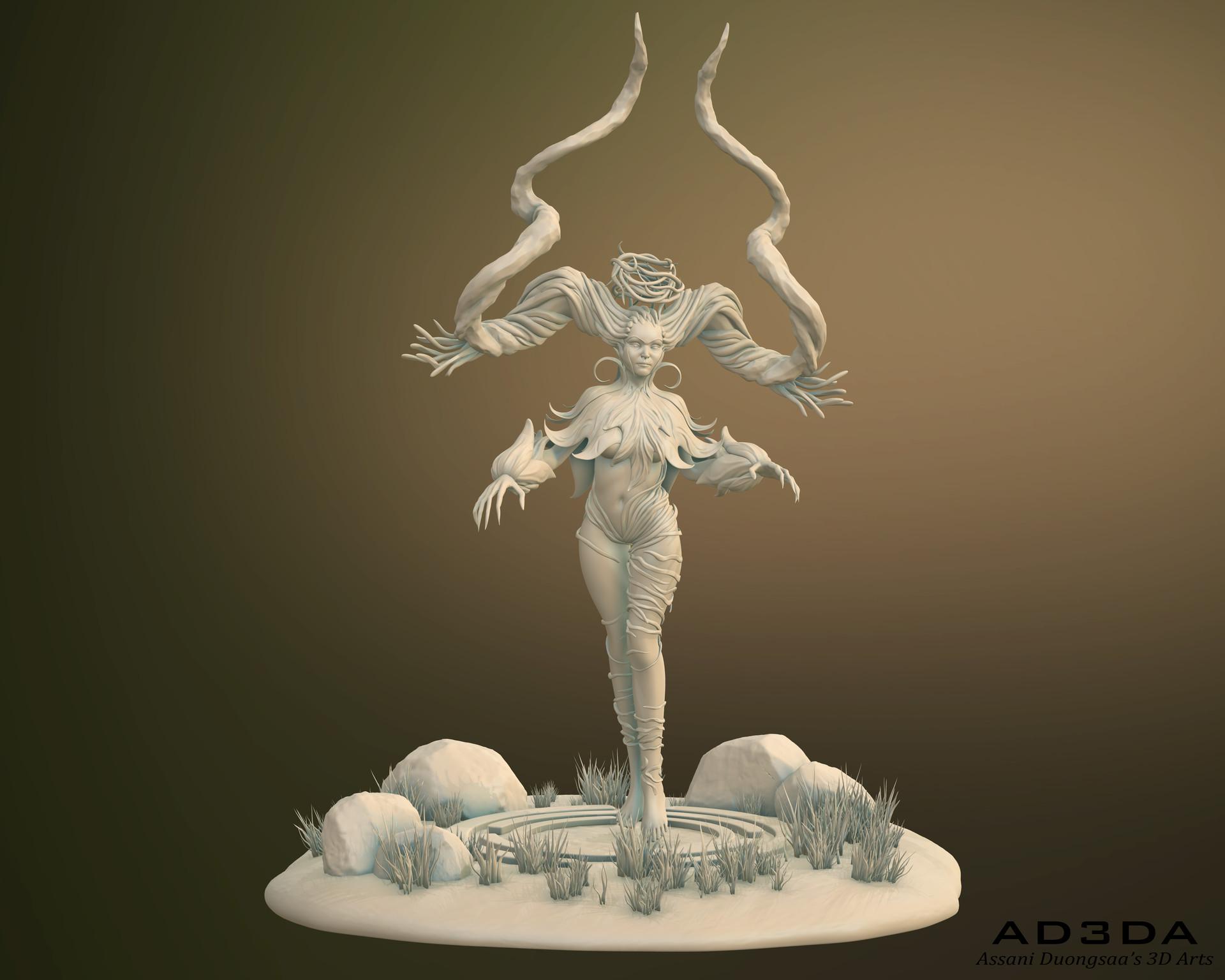 the Dryad - Sculpt