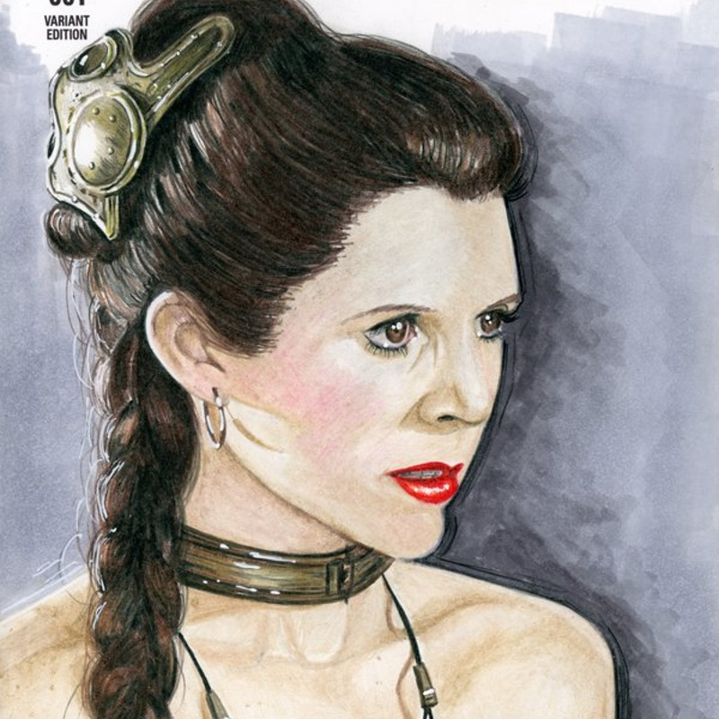 Slave Leia Sketch Cover