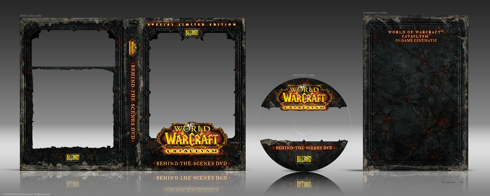 "Final DVD Set Designs for ""World of Warcraft: Cataclysm"" CE Box Set"