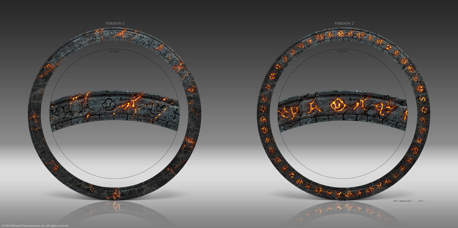 "Rune Ring Designs for ""World of Warcraft: Cataclysm"" CE Box Set"