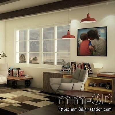 Miguel martin beatles living room miguelmartin3d 01