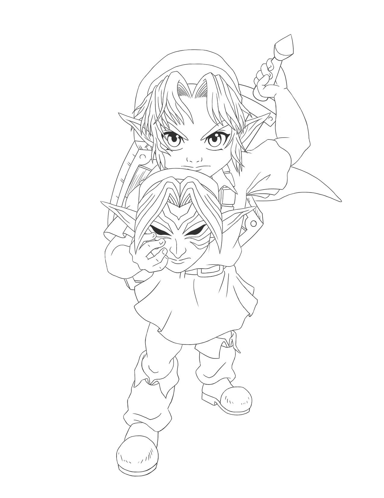 ArtStation The Legend of Zelda Majora s Mask Link Luis
