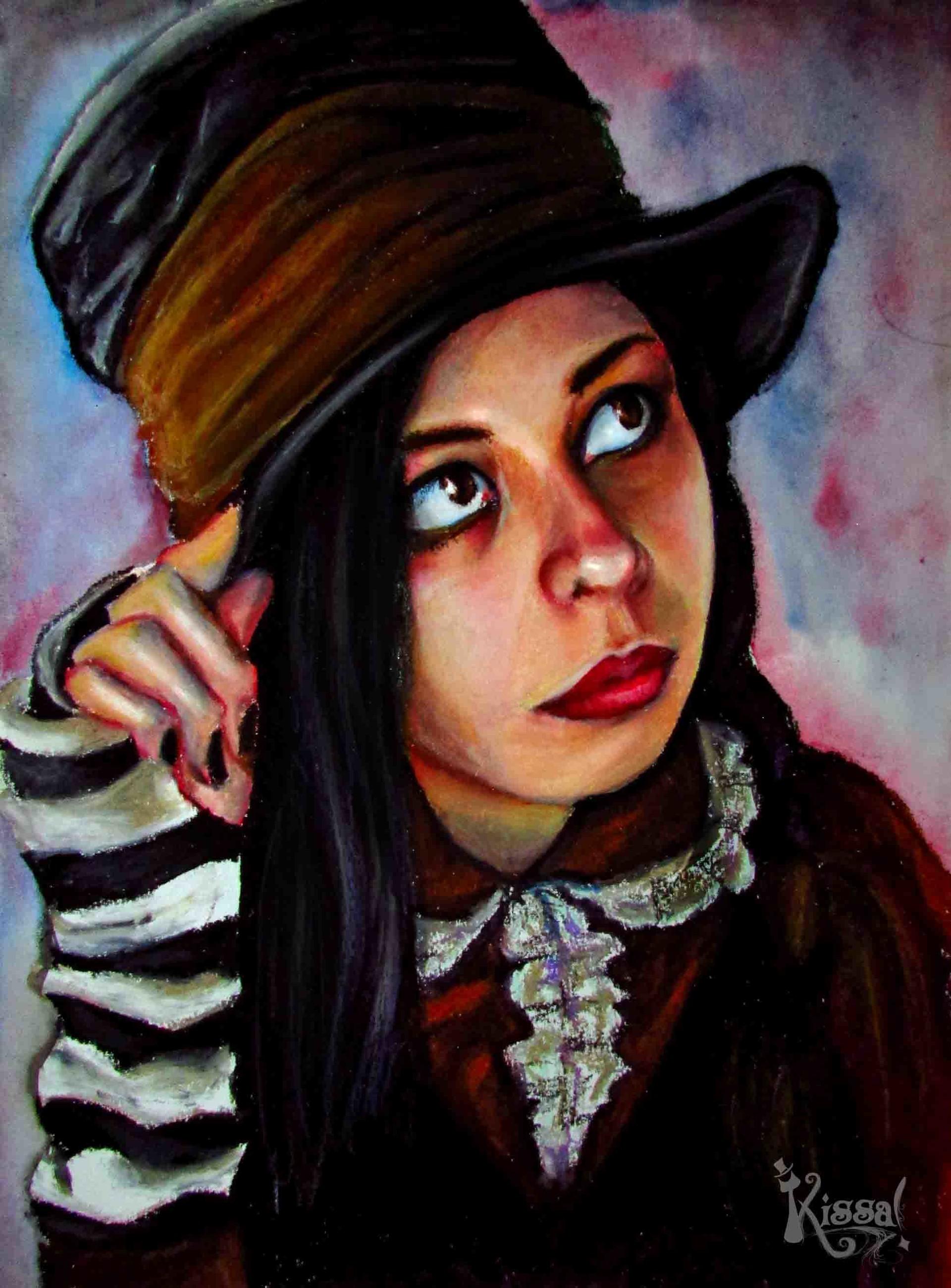 Kissa marana 20150330 autoretrato pastel graso