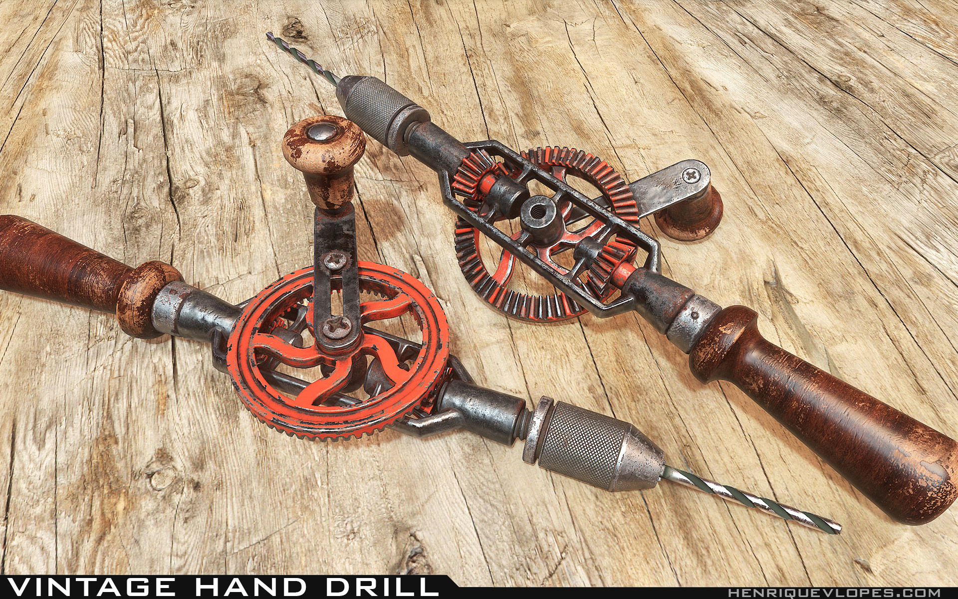 Henrique lopes hand drill lowpoly 06