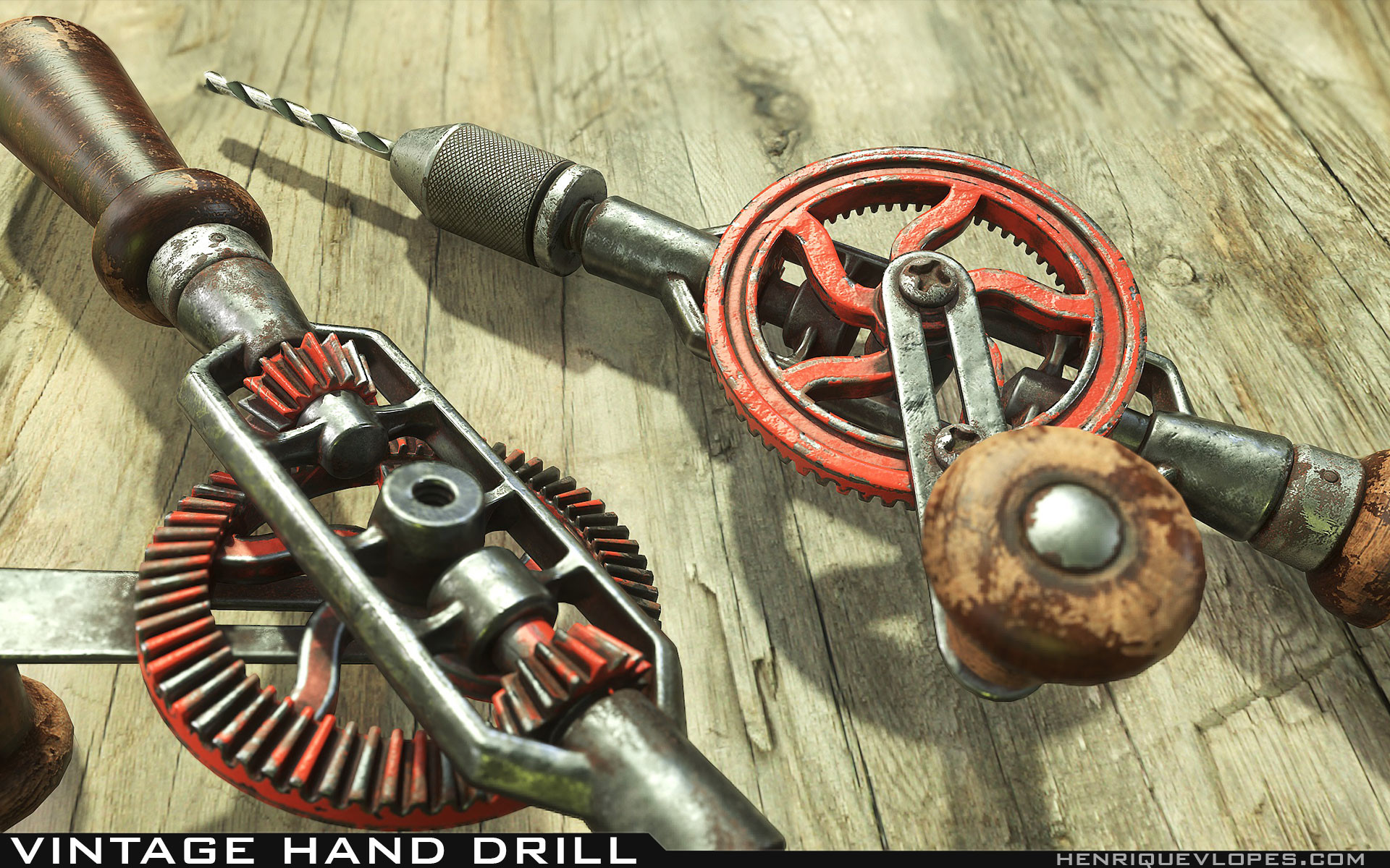Henrique lopes hand drill lowpoly 09
