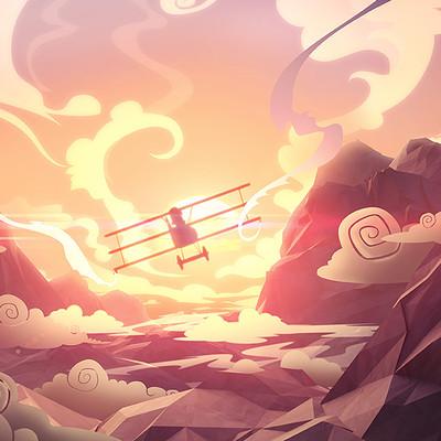 Mateusz szulik 11 wl dogfight illustration 02 sunset flight