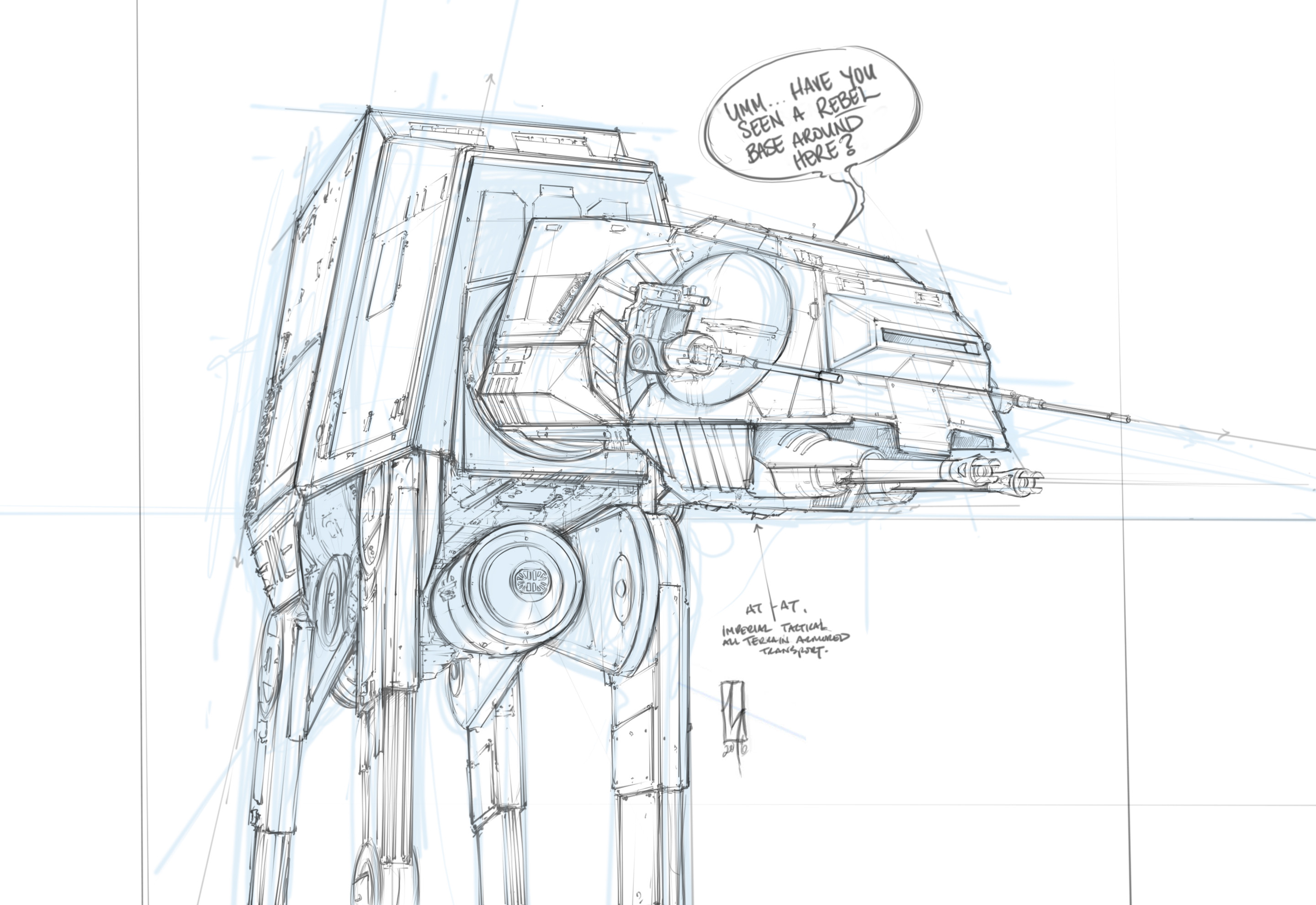 The At At Imperial Walker - Sketch