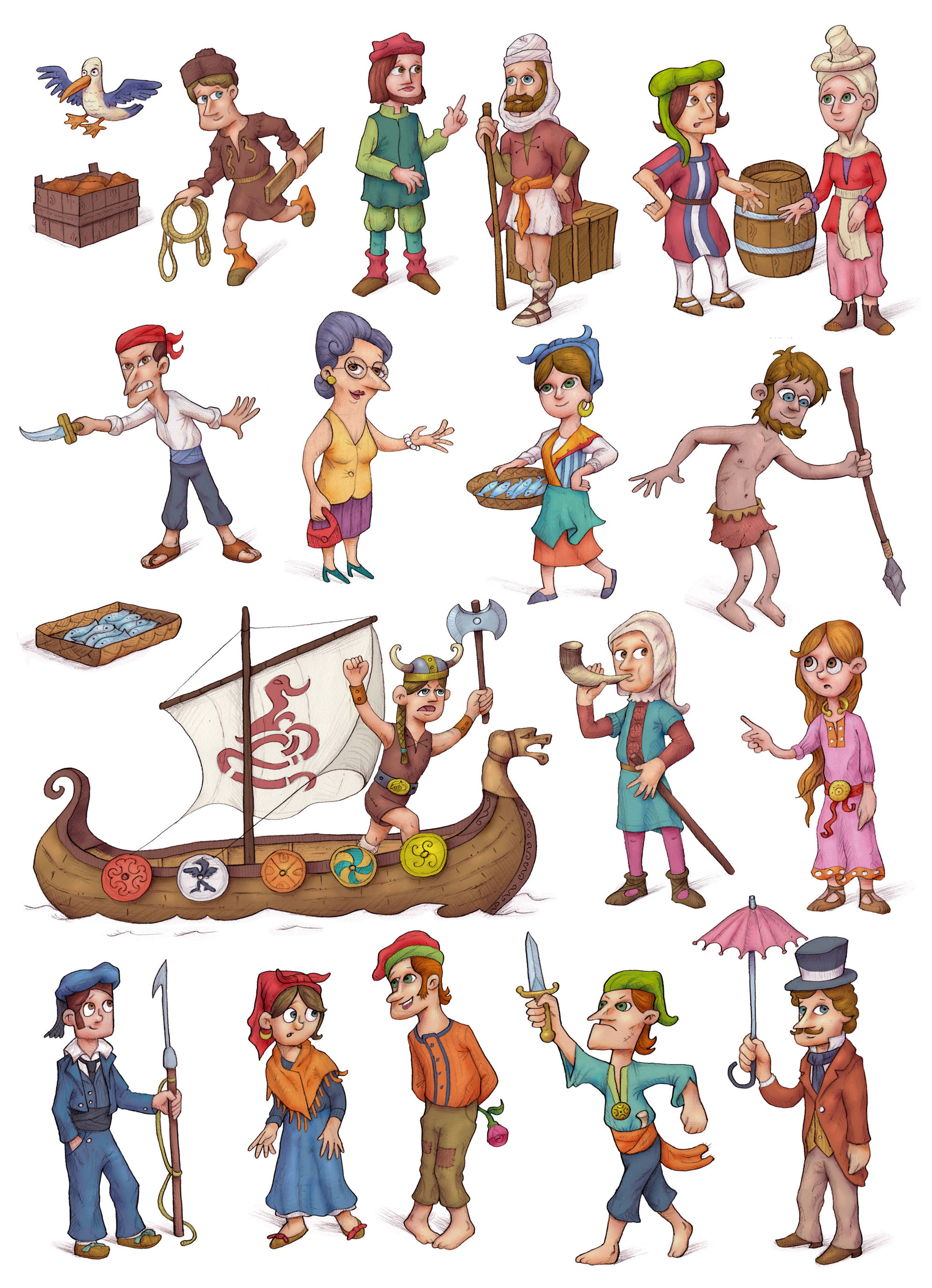 Autogiro illustration studio personajescencio