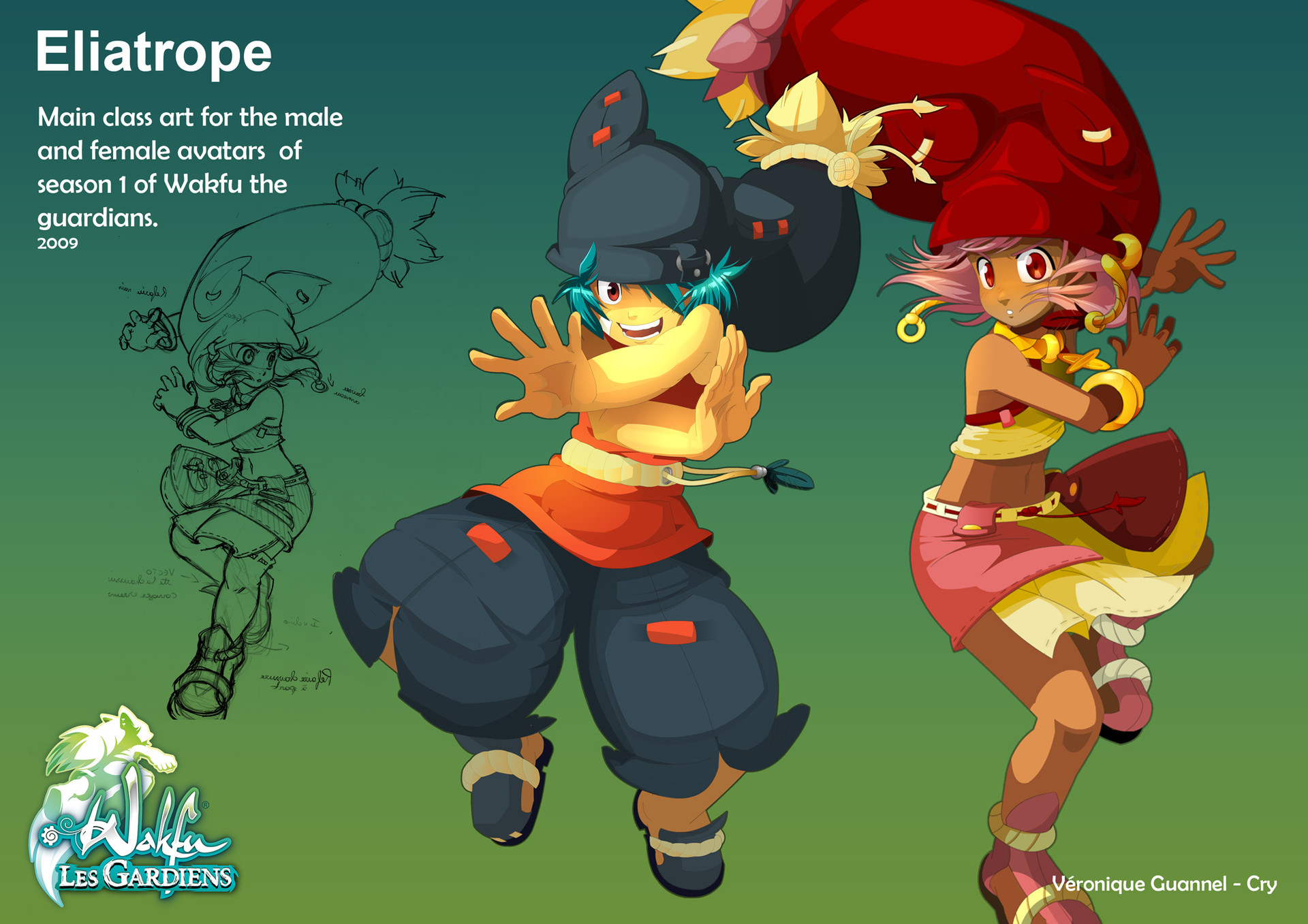 Wakfu Anime Character Design : Artstation wakfu les gardiens first season main art