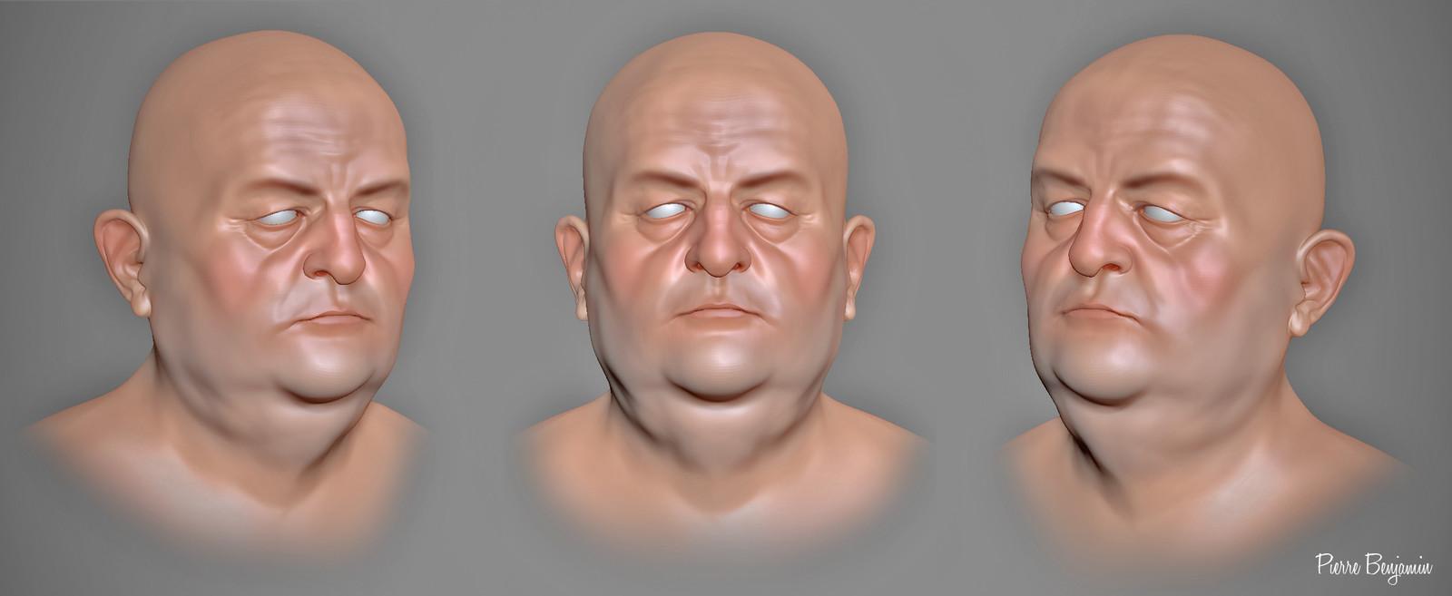 Bernard Blier ZBrush sculpt WIP