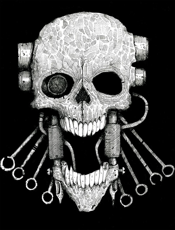 Manmachine interface skull1