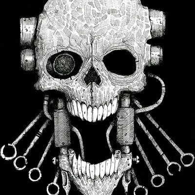 Manmachine interface skull1