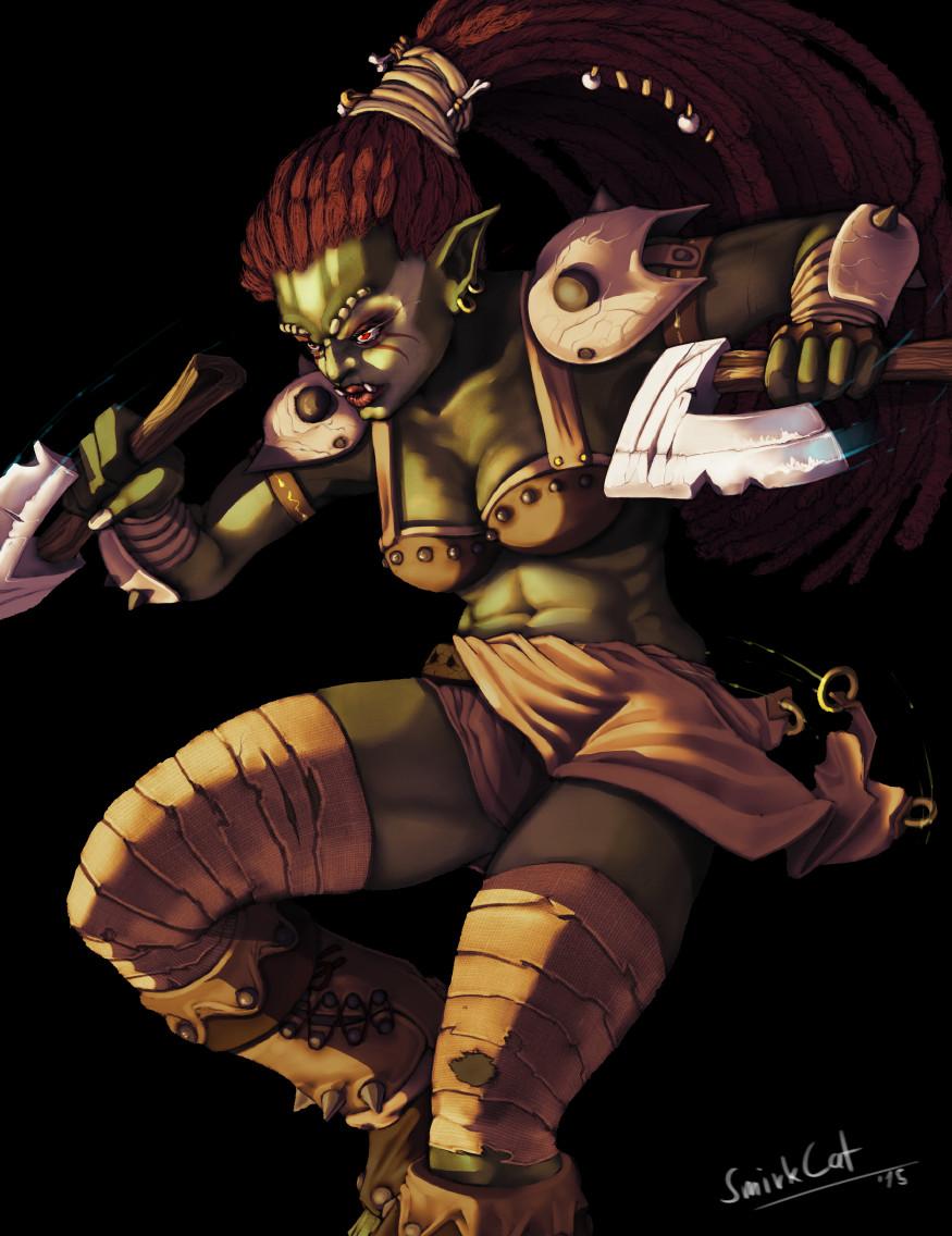 Smirk cat ork warrior