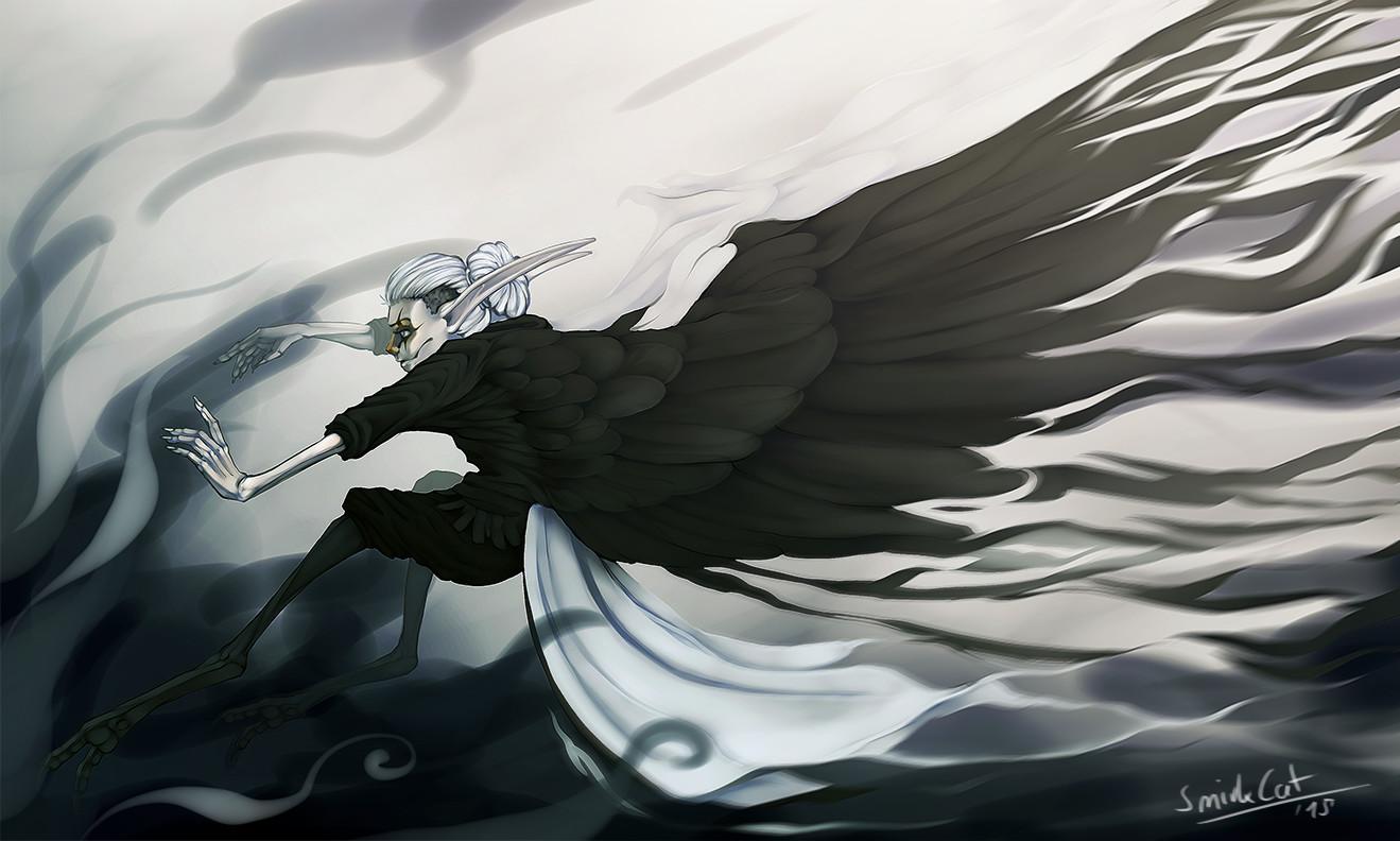 Smirk cat wings