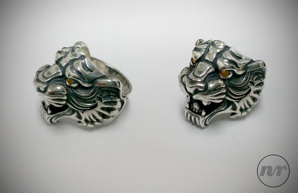 Nacho riesco gostanza silver tiger ring