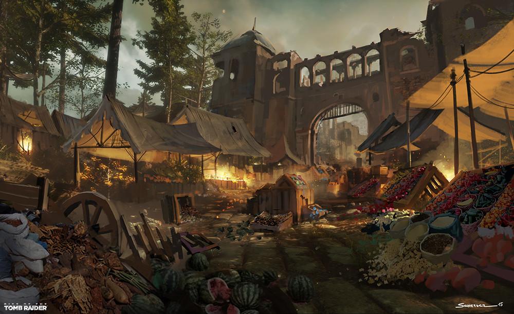 Yohann schepacz oxan studio byzantine ruins market paintover