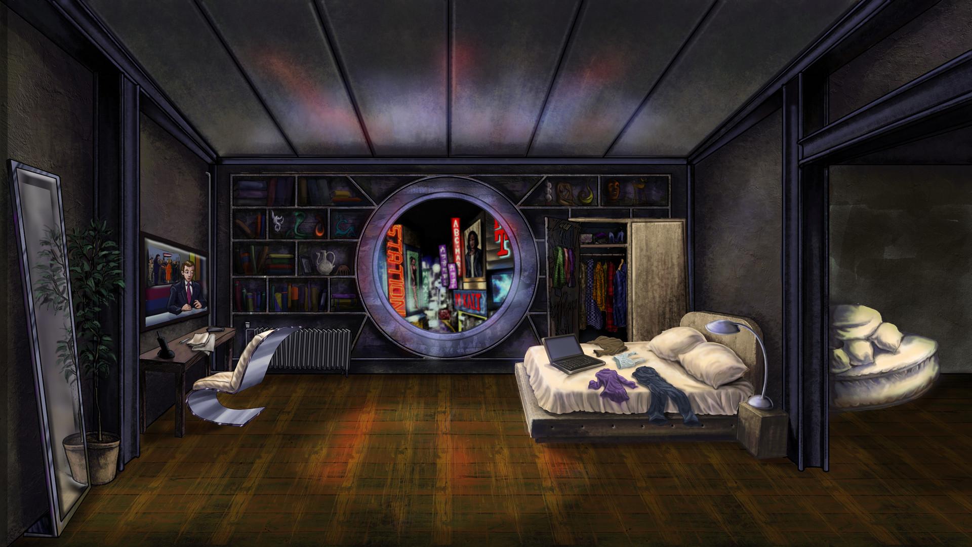 Sci Fi Apartment Concept Art