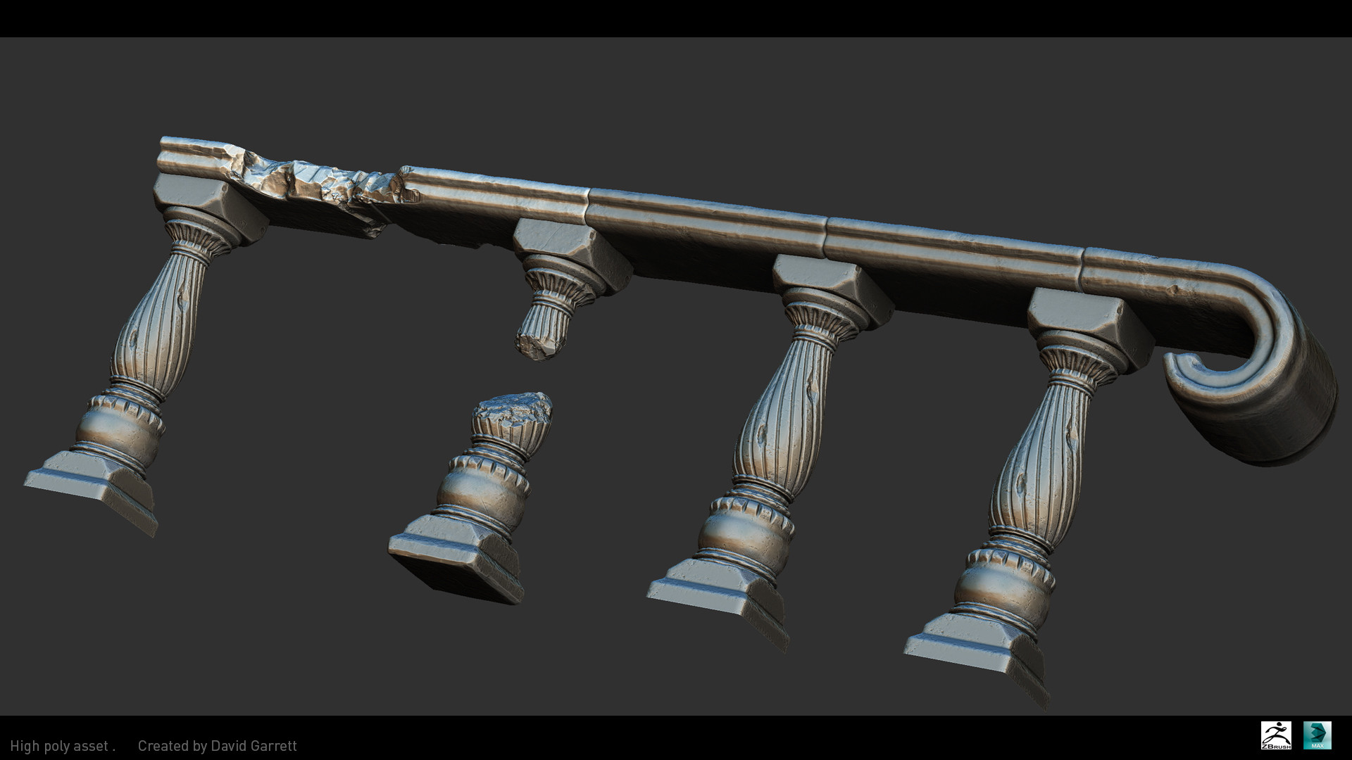 David garrett n3094311 high poly shot railing