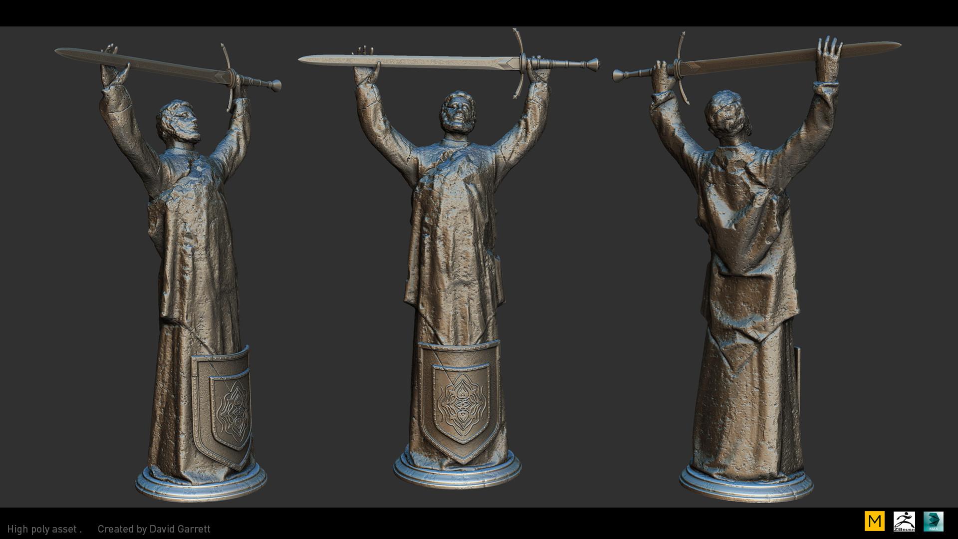 David garrett n3094311 high poly shot statue