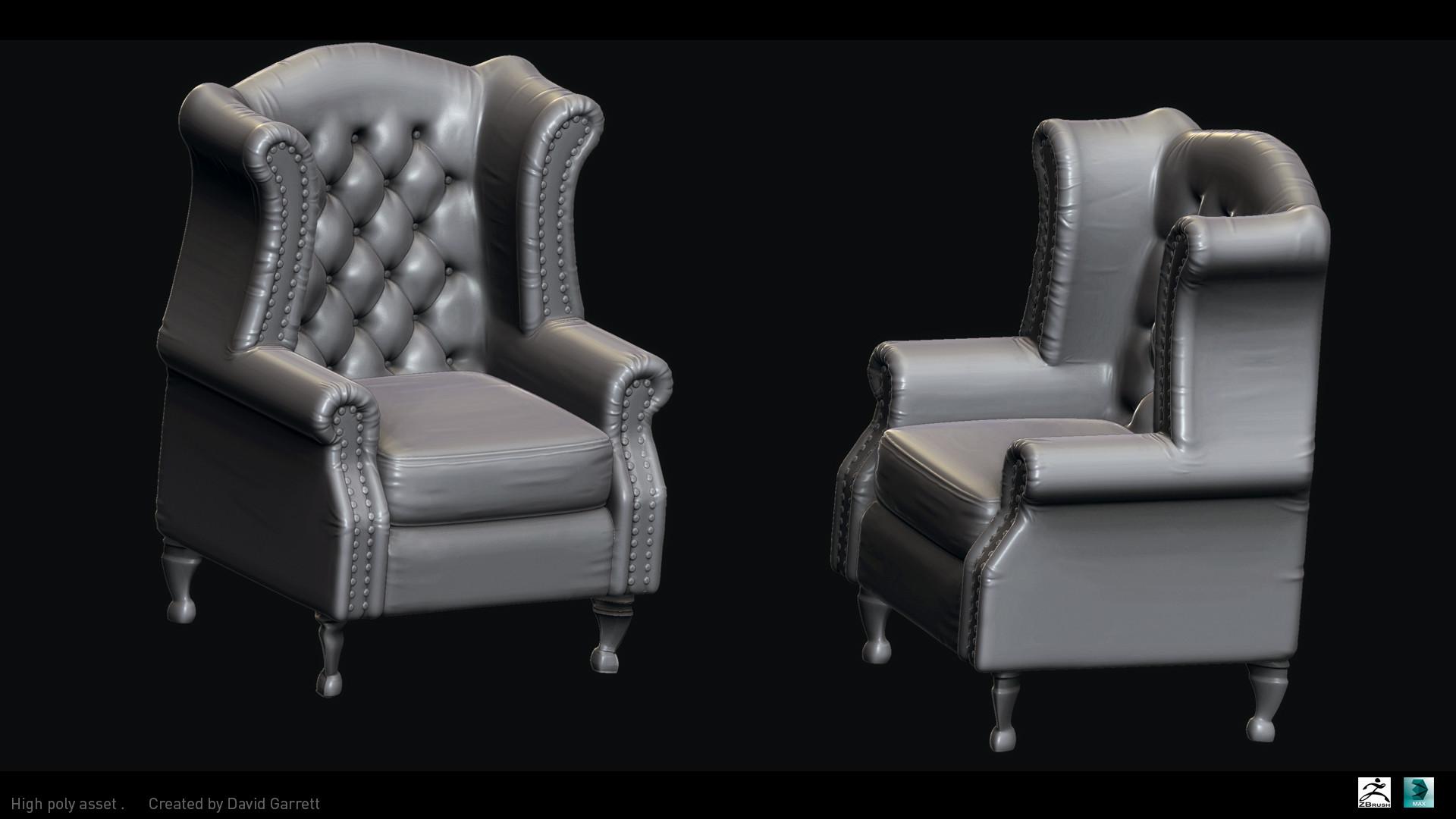 David garrett n3094311 high poly shot chair