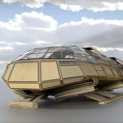 Dennis haupt futuristic transport shuttle 6