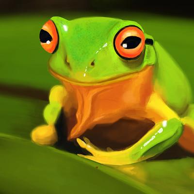 Marina hahn frog paint
