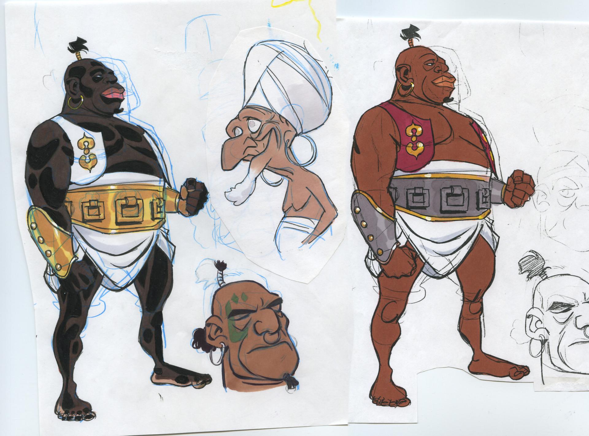 Rodolfo damaggio simbad cartoon studies