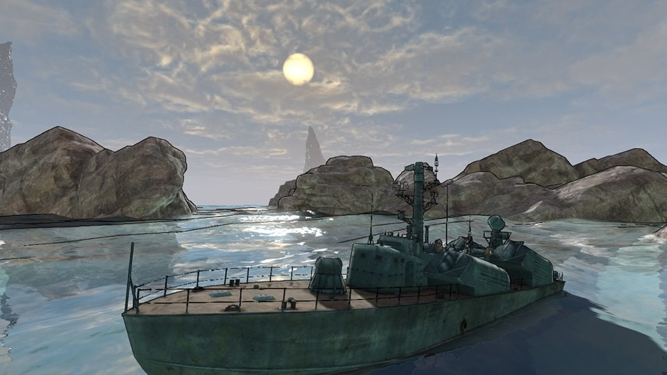 Some works on toon ocean shader, UDK (2013)