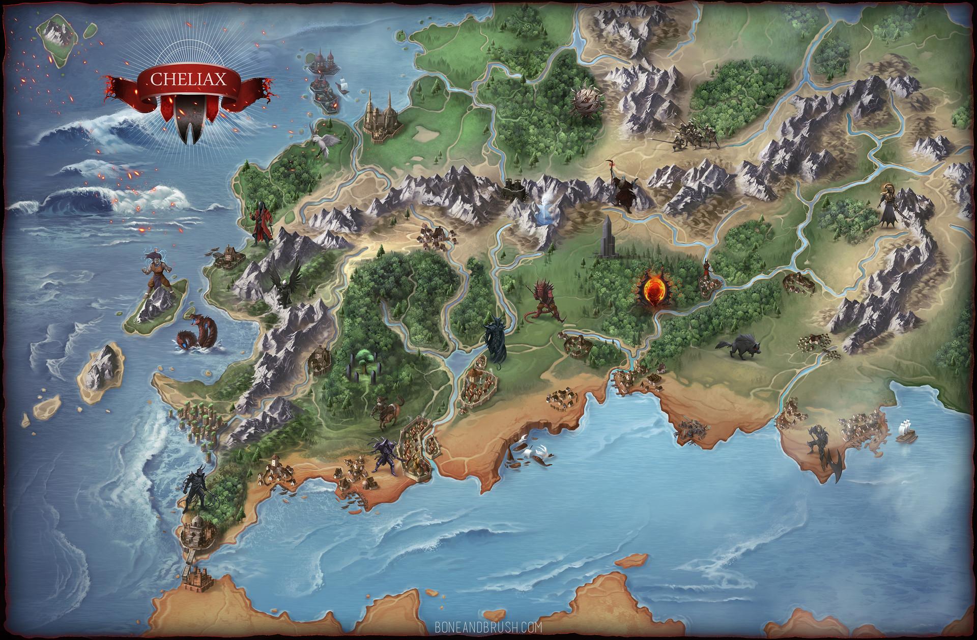 Damien mammoliti chelias poster map 33x21