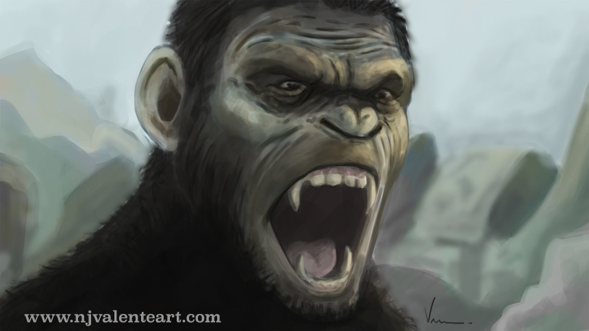 Planet of the Apes speed paint