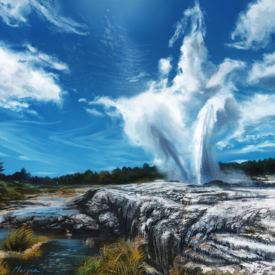 Maryna babych geyser practice piece by little lion lady d79m94v
