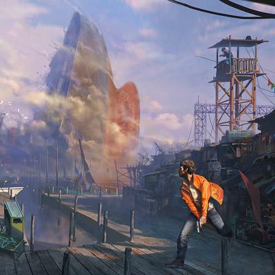 Harbor slum chasing ...
