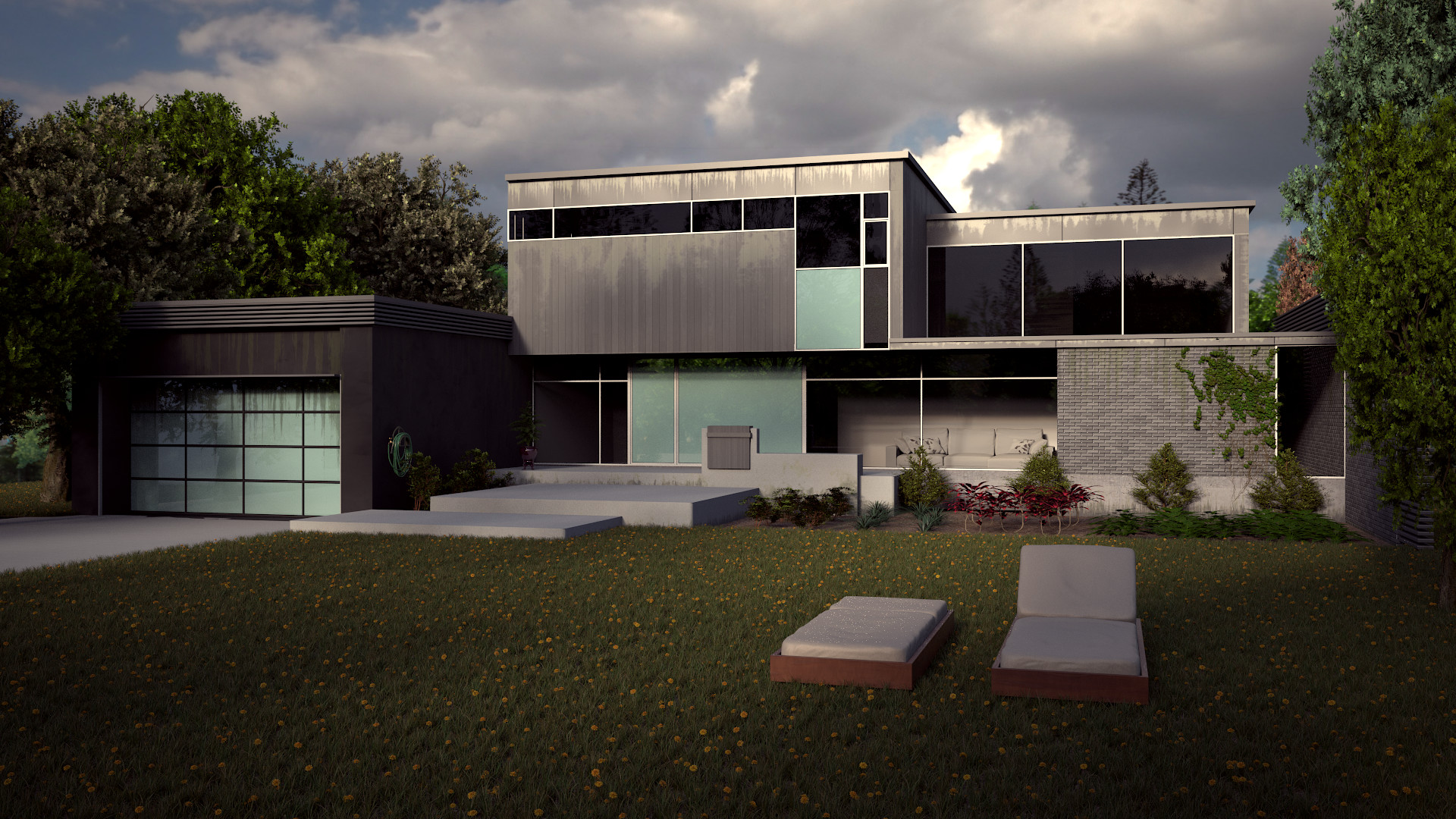 ArtStation modern house tutorial the achitecture academy Daniel
