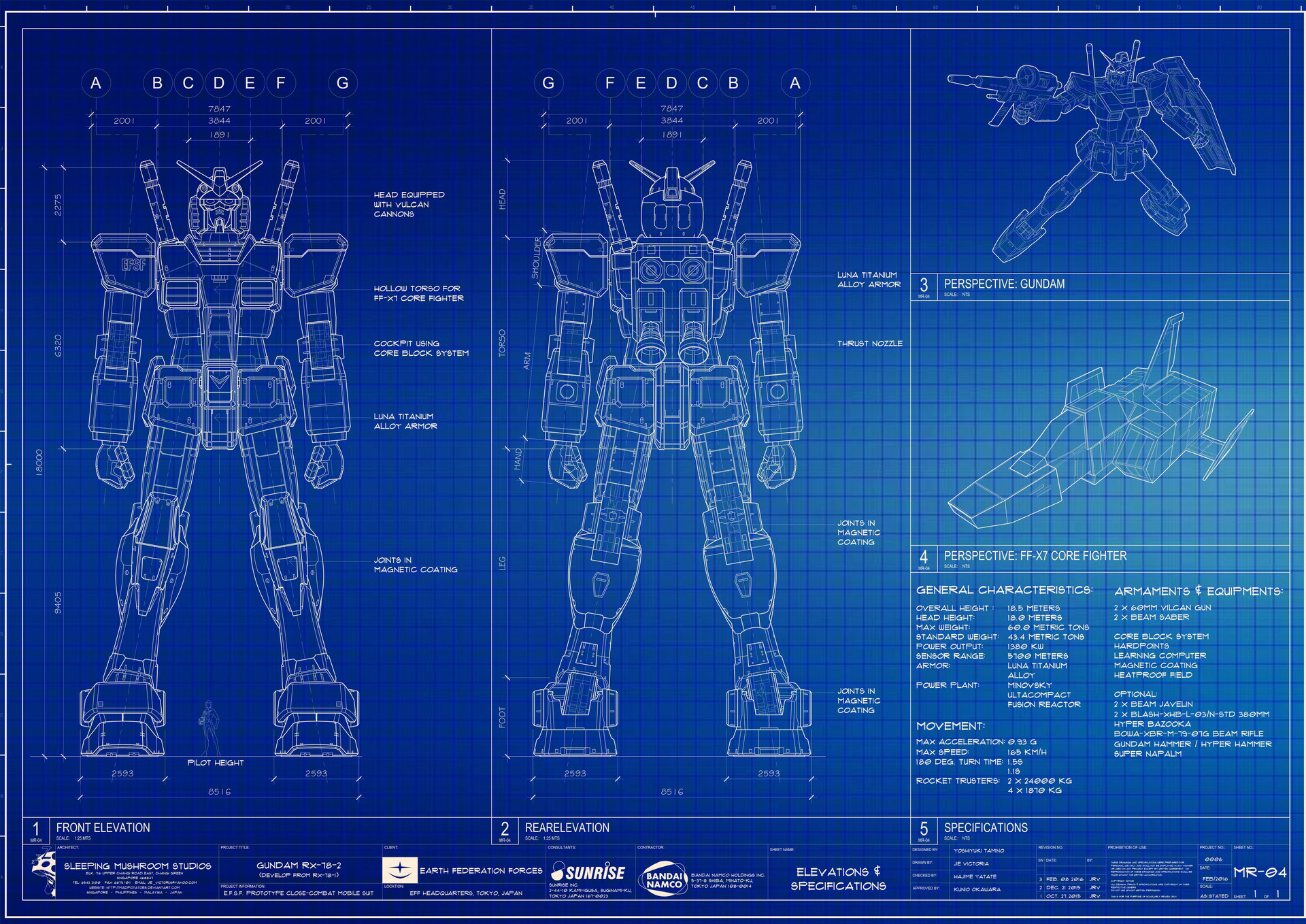 Artstation gundam rx 78 2 blueprint jie victoria malvernweather Images