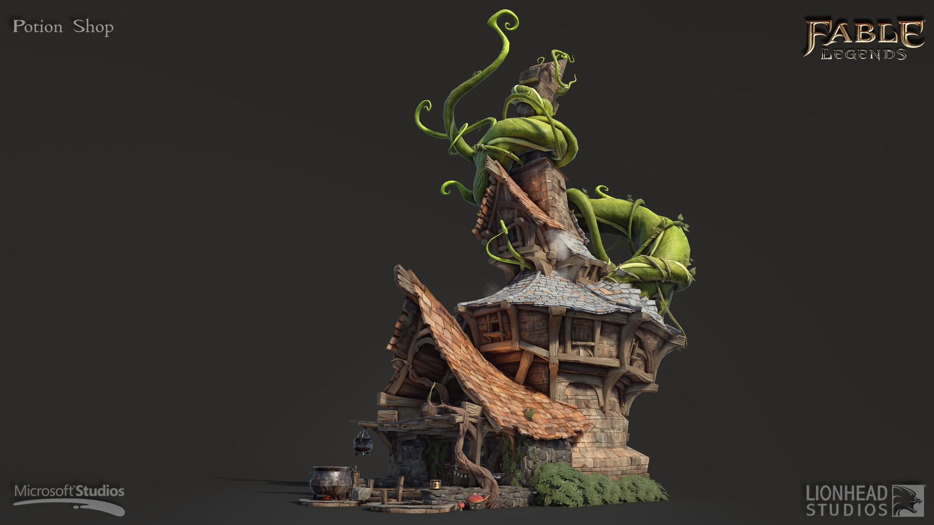 Beau Potion Shop Was One Of The Many Buildings That I Have Created For  Brightlodge, Witch Was The Main Hub Of Fable Legends (some Of The Smaller  Props In The ...
