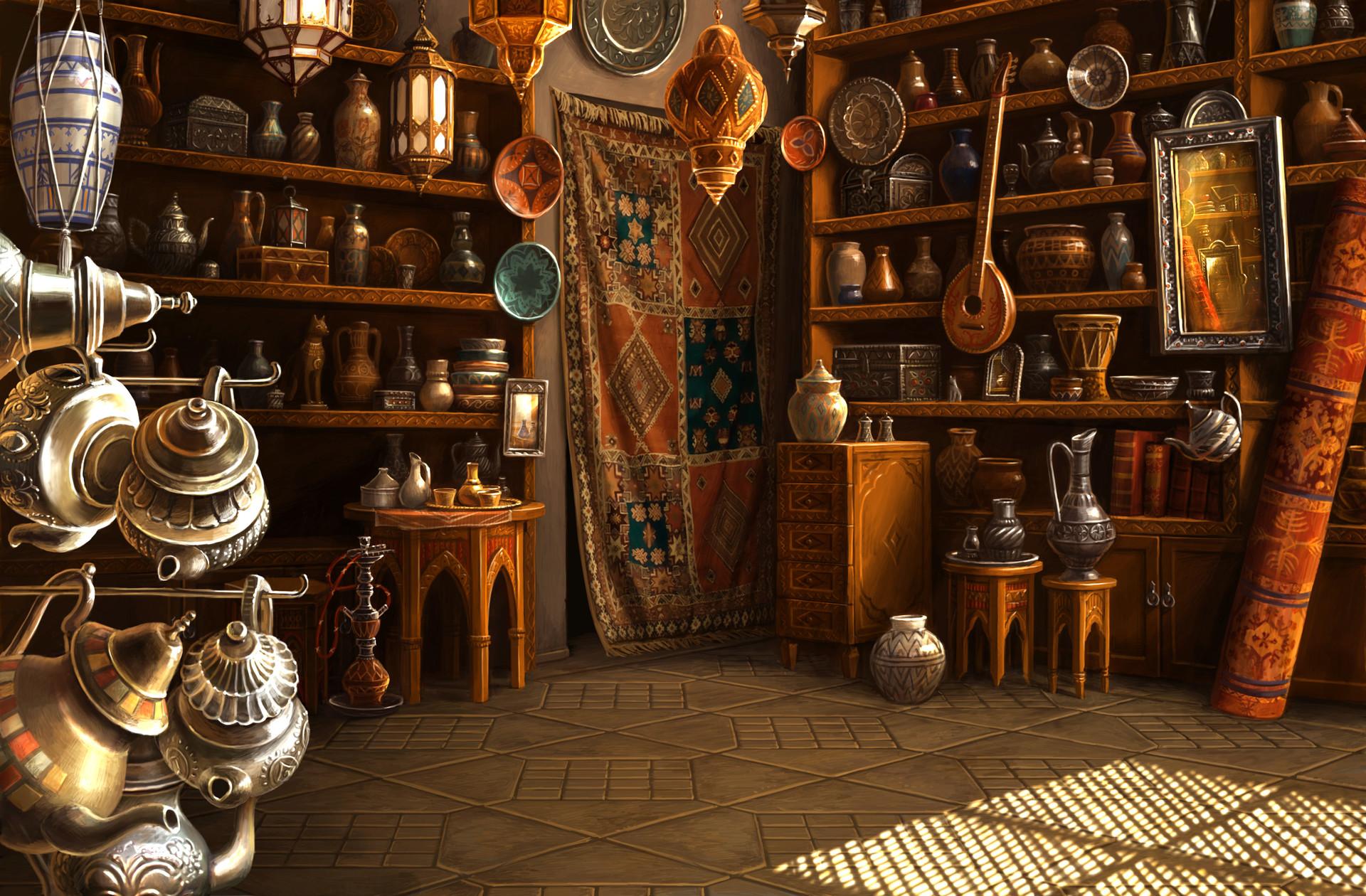 "Marrakesh Antique Shop Backgrounds For ""Lost"