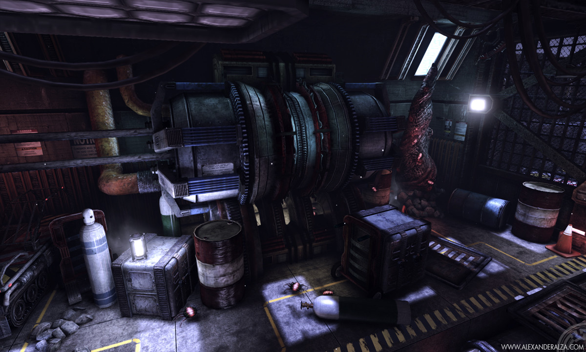 Stockpile scene in UDK (3 of 6)