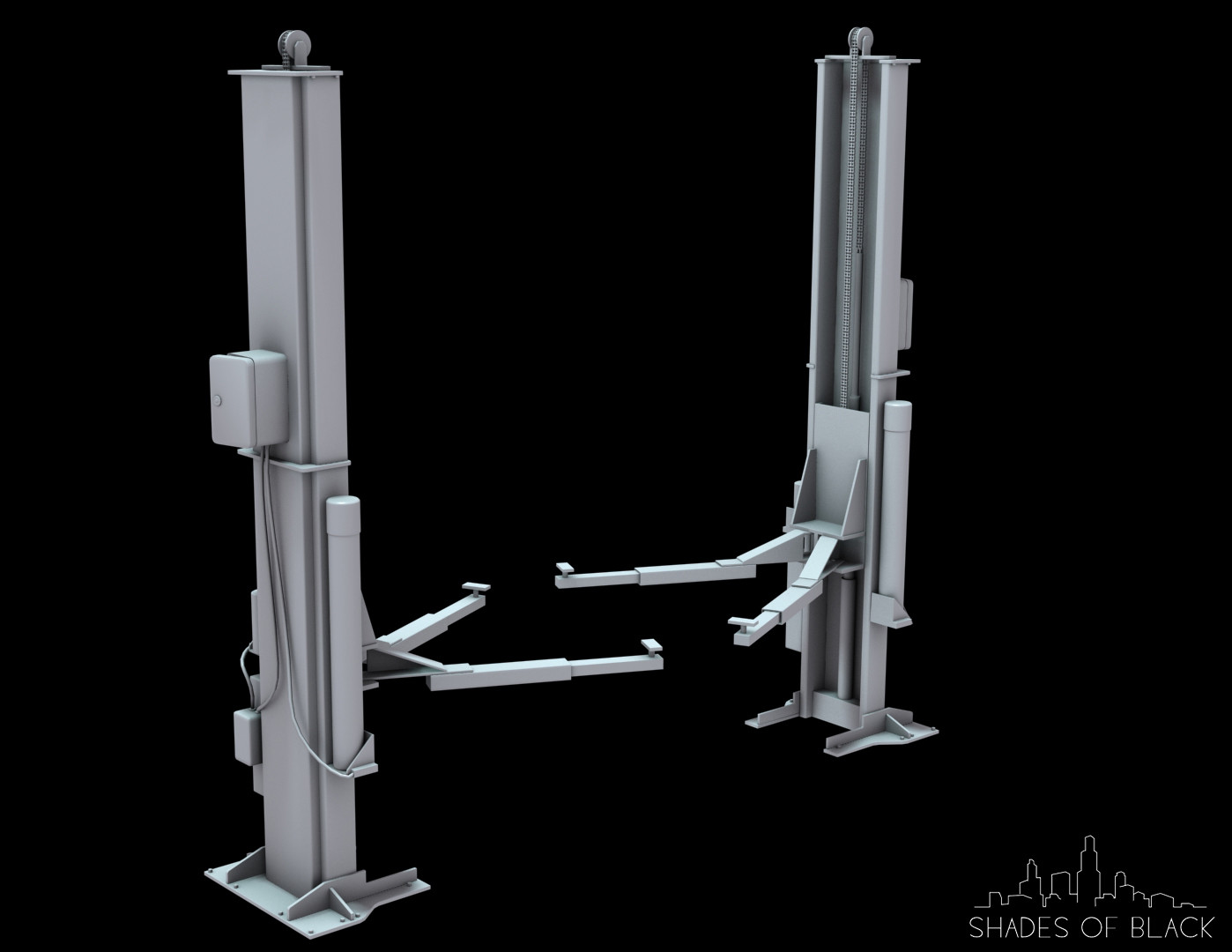 Car lift Hight poly version